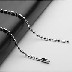 Недорогие Ожерелья-Муж. Одинарная цепочка Ожерелья-цепочки - Нержавеющая сталь европейский Серебряный 55 cm Ожерелье Бижутерия 1шт Назначение Повседневные