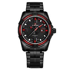 preiswerte Herrenuhren-NAVIFORCE Herrn Kleideruhr Armbanduhr Japanisch Japanischer Quartz Schwarz 30 m Wasserdicht Kalender Cool Analog Luxus Modisch - Schwarz / Rot Schwarz / Rotgold