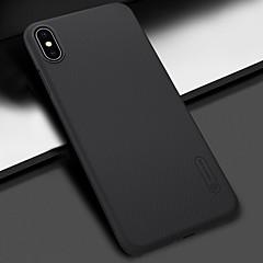 Недорогие Кейсы для iPhone 7 Plus-Кейс для Назначение Apple iPhone XS / iPhone XS Max Защита от удара / Матовое Кейс на заднюю панель Однотонный Твердый ПК для iPhone XS / iPhone XR / iPhone XS Max