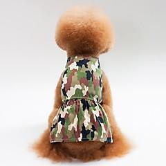 お買い得  犬用品-犬用 / 猫用 ドレス 犬用ウェア カモフラージュ グリーン / ピンク コットン コスチューム ペット用 女性 ドレス / カジュアル/普段着