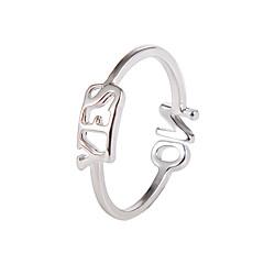 preiswerte Ringe-Damen Ring / Einstellbarer Ring - Kreativ, Buchstabe Einfach, Koreanisch Verstellbar Gold / Schwarz / Silber Für Party / Alltag / Strasse