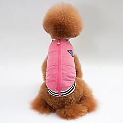 お買い得  犬用ウェア&アクセサリー-犬用 / 猫用 コート / ベスト 犬用ウェア ソリッド ピンク コットン コスチューム ペット用 男女兼用 ウォームアップ / カジュアル / スポーティ