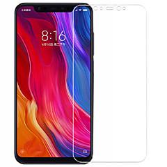 Недорогие Защитные плёнки для экранов Xiaomi-asling протектор экрана для xiaomi xiaomi mi 8 закаленное стекло 1 шт. защита переднего экрана 9ч. твердость / 2.5d изогнутый край / взрывозащищенный
