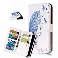 Недорогие Кейсы для iPhone 6 Plus-Кейс для Назначение Apple iPhone XR / iPhone XS Max Кошелек / Бумажник для карт / со стендом Чехол Перья Твердый Кожа PU для iPhone XS / iPhone XR / iPhone XS Max