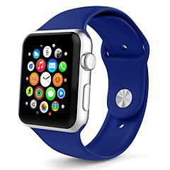 preiswerte Herrenuhren-Silica Gel Uhrenarmband Gurt für Apple Watch Series 3 / 2 / 1 Weiß / Orange / Grau 23cm / 9 Zoll 2.1cm / 0.83 Inch