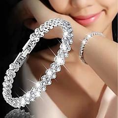 preiswerte Armbänder-Damen Tennis Kette Vintage Armbänder Kristall Armband - Liebe Luxus, Modisch Armbänder Gold / Silber / Rotgold Für Hochzeit Verlobung