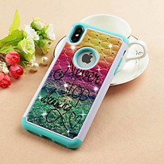 cheap iPhone Cases-Case For Apple iPhone XR / iPhone XS Max Rhinestone / Pattern Back Cover Scenery Hard PU Leather for iPhone XS / iPhone XR / iPhone XS Max