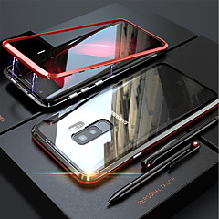 cheap Valentine's Day Sale-Case For Samsung Galaxy S9 Plus / S9 Magnetic Full Body Cases Solid Colored Hard Tempered Glass for S9 / S9 Plus / S8 Plus