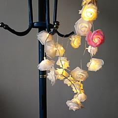 preiswerte LED Lichtstreifen-2,5 m Leuchtgirlanden 20 LEDs Warmes Weiß Neues Design / Dekorativ / Cool AA-Batterien angetrieben