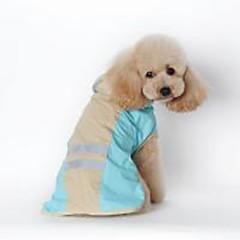 お買い得  犬用ウェア&アクセサリー-犬用 / 猫用 レインコート 犬用ウェア ソリッド ブルー / ピンク PUレザー コスチューム ペット用 男女兼用 防水 / 防風