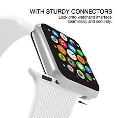 お買い得  腕時計ベルト-シリカゲル 時計バンド ストラップ のために Apple Watch Series 4/3/2/1 ブラック / 白 / ブルー 23センチメートル / 9インチ 2.1cm / 0.83 Inch