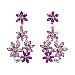 preiswerte Ohrringe-Damen Klassisch Stilvoll Tropfen-Ohrringe - Blume Stilvoll, Klassisch Weiß / Purpur / Grün Für Alltag