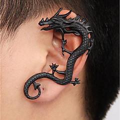 abordables Pendientes-Hombre Estilo retro Puños del oído - Dragón Punk Negro Para Calle