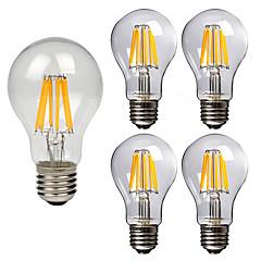 お買い得  LED 電球-5個 8W 760lm E26 / E27 フィラメントタイプLED電球 A60(A19) 8 LEDビーズ COB 装飾用 温白色 クールホワイト 220-240V