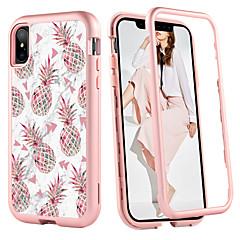 Недорогие Кейсы для iPhone-Случай bentoben для яблока iphone xr / iphone xs максимальный ударопрочный / образец полный корпус фрукт / мрамор жесткий tpu / шт для iphone xr / iphone xs max