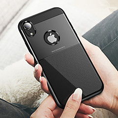 Недорогие Кейсы для iPhone X-Кейс для Назначение Apple iPhone XR / iPhone XS Max Рельефный Кейс на заднюю панель Однотонный Твердый ПК для iPhone XS / iPhone XR / iPhone XS Max