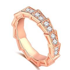 preiswerte Ringe-Damen Kubikzirkonia Schlange Ring - Antikes Rom 5 / 6 / 7 Rotgold Für Geschenk / Strasse
