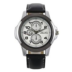preiswerte Armbanduhren für Paare-Herrn Paar Sportuhr Armbanduhr Quartz Armbanduhren für den Alltag Leder Band Analog Freizeit Modisch Schwarz / Braun - Schwarz / Braun Schwarz / Weiß Weiß / Braun