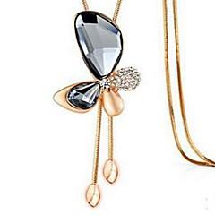 preiswerte Halsketten-Damen Synthetischer Amethyst Quaste / Lang Anhängerketten - Strass Schmetterling Stilvoll, Klassisch, Quaste Grau, Kaffee, Blau 94 cm Modische Halsketten Schmuck 1pc Für Alltag