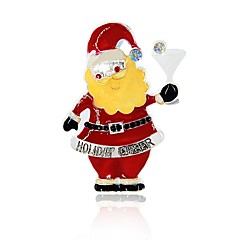お買い得  ブローチ-女性用 クラシック ブローチ  -  サンタスーツ スタイリッシュ ブローチ レッド 用途 クリスマス