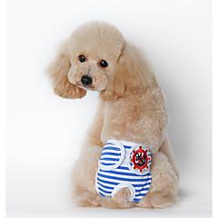 お買い得  犬用ウェア&アクセサリー-犬用 / 猫用 パジャマ 犬用ウェア 幾何学模様 イエロー / ブルー / ピンク コットン コスチューム ペット用 男女兼用 スウィート / カジュアル/普段着