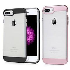 Недорогие Кейсы для iPhone 7 Plus-Кейс для Назначение Apple iPhone 7 Plus Защита от удара / Защита от пыли / Прозрачный Кейс на заднюю панель Однотонный Твердый ТПУ для iPhone 7 Plus