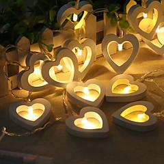 preiswerte LED Lichtstreifen-HKV 2m Leuchtgirlanden 20 LEDs Warmes Weiß Kreativ / Dekorativ AA-Batterien angetrieben 1pc
