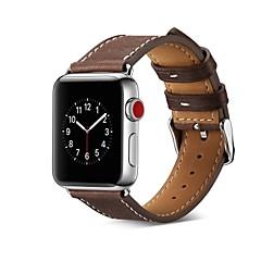 preiswerte Herrenuhren-Kalbshaut Uhrenarmband Gurt für Apple Watch Series 3 / 2 / 1 Schwarz / Blau / Rot 23cm / 9 Zoll 2.1cm / 0.83 Inch