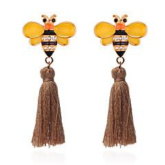 preiswerte Ohrringe-Damen Quaste Stilvoll Tropfen-Ohrringe - Strass Biene Quaste, Zeichentrick Weiß / Kaffee / Grün Für Weihnachten Geburtstag