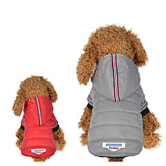 お買い得  犬用ウェア&アクセサリー-犬用 / 猫用 パーカー 犬用ウェア 縞柄 / メッセージ グレー コットン コスチューム ペット用 男女兼用 保温 / ファッション