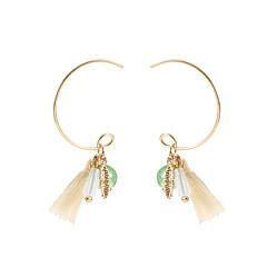 preiswerte Ohrringe-Damen Quaste Tropfen-Ohrringe - Einfach, Modisch Gold Für Normal Alltag