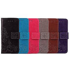 Недорогие Чехлы и кейсы для Sony-Кейс для Назначение Sony Xperia XA1 Бумажник для карт / Флип Чехол Однотонный / Мандала Мягкий Кожа PU для Sony Xperia XA1