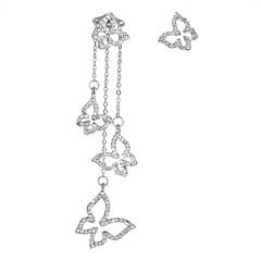preiswerte Ohrringe-Damen Nicht übereinstimmend Tropfen-Ohrringe - Schmetterling Europäisch, Modisch, Elegant Gold / Silber Für Party Geburtstag