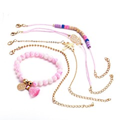 preiswerte Armbänder-Damen Mehrschichtig Ketten- & Glieder-Armbänder - Ananas Romantisch Armbänder Gold Für Geschenk Festival / 5 Stück