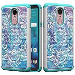 Недорогие Чехлы и кейсы для LG-Кейс для Назначение LG K10 2018 / G7 Защита от удара / Стразы / С узором Кейс на заднюю панель Мандала / Стразы Твердый ПК для LG Stylo 4 / LG K10 2018 / LG K10 (2017)
