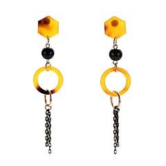 preiswerte Ohrringe-Damen Gelb Gelb Klassisch Tropfen-Ohrringe - Einfach, Natur, Volkston Gelb Für Abiball Valentinstag / 2pcs