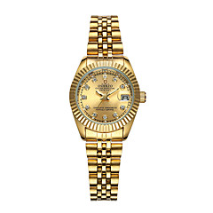 お買い得  レディース腕時計-女性用 リストウォッチ クォーツ 30 m カレンダー 新デザイン 合金 バンド デジタル ぜいたく ファッション ゴールド - ブラック シルバー ゴールド
