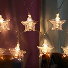 preiswerte LED Lichtstreifen-1.2 Leuchtgirlanden 10 LEDs Weiß Dekorativ / bezaubernd USB angetrieben 1 set