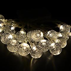 お買い得  LED ストリングライト-2.5m ストリングライト 20 LED 温白色 装飾用 220-240 V 1セット