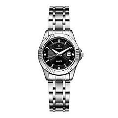preiswerte Damenuhren-Damen Armbanduhr Quartz 30 m Kalender Kreativ Legierung Band Analog Luxus Modisch Silber - Weiß Schwarz