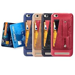 Недорогие Чехлы и кейсы для Xiaomi-Кейс для Назначение Xiaomi Redmi 6 / Redmi 5 Бумажник для карт / со стендом / Кольца-держатели Кейс на заднюю панель Однотонный Мягкий Кожа PU для Redmi Note 5A / Xiaomi Redmi Note 5 Pro / Xiaomi