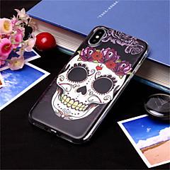 Недорогие Кейсы для iPhone X-Кейс для Назначение Apple iPhone XS / iPhone XS Max С узором Кейс на заднюю панель Черепа Мягкий ТПУ для iPhone XS / iPhone XR / iPhone XS Max