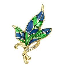 abordables Broches-Mujer Resina Tropical Broche - Forma de Hoja Elegante, Básico Broche Verde Para Regalo / Diario