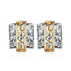 preiswerte Ohrringe-Damen Klar Klar Kubikzirkonia Klassisch Ohrring - 18K Gold Modisch Champagner Für Party Alltag