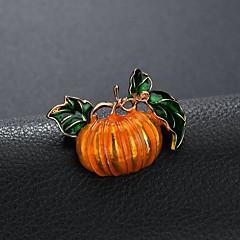 abordables Bijoux pour Femme-Homme Classique Broche - Thème floral Elégant, Classique Broche Jaune et Vert Pour Halloween