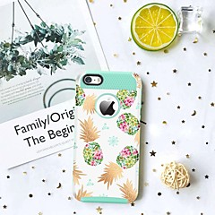 Недорогие Кейсы для iPhone-BENTOBEN Кейс для Назначение Apple Кейс для iPhone 5 Защита от удара / С узором Кейс на заднюю панель Фрукты Твердый ТПУ / ПК для iPhone SE / 5s / iPhone 5