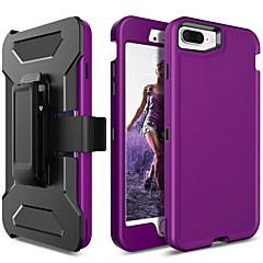 Недорогие Кейсы для iPhone 6 Plus-BENTOBEN Кейс для Назначение Apple iPhone 8 Plus / iPhone 7 Plus Защита от удара / Матовое Чехол Однотонный Твердый ТПУ / ПК для iPhone 8 Pluss / iPhone 7 Plus / iPhone 6s Plus