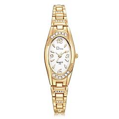 preiswerte Damenuhren-Damen Armbanduhr Quartz Neues Design Armbanduhren für den Alltag Imitation Diamant Legierung Band Analog Modisch Elegant Silber / Gold / Rotgold - Silber / schwarz Rotgold Gold / Weiß Ein Jahr