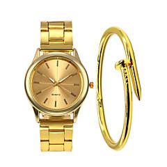 お買い得  レディース腕時計-女性用 リストウォッチ クォーツ 30 m クリエイティブ 新デザイン ステンレス バンド ハンズ ファッション ブラック / シルバー / ゴールド - ブラック シルバー ローズゴールド