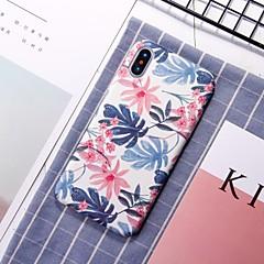 Недорогие Кейсы для iPhone 7 Plus-Кейс для Назначение Apple iPhone XR / iPhone XS Max С узором Кейс на заднюю панель Цветы Твердый ПК для iPhone XS / iPhone XR / iPhone XS Max